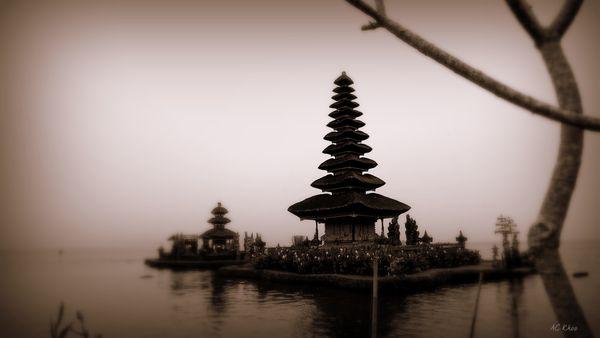 Bedugul water temple, Bali