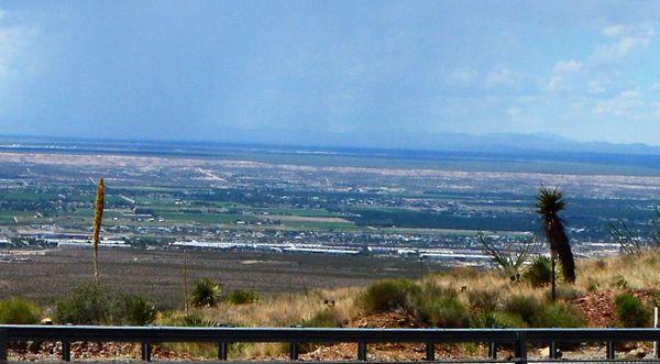 Over looking west El Paso TX