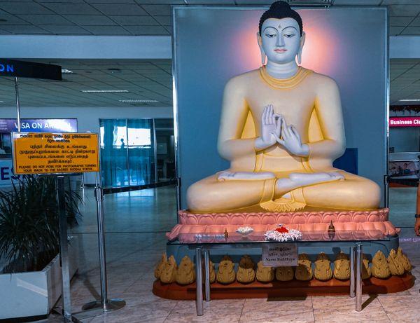 Buddha Statue at Srilankan Airport