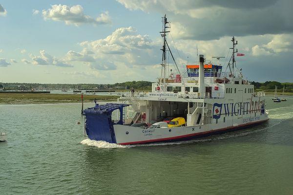 MV Cenwulf, Car & Passenger Ferry, Lymington River, Hampshire