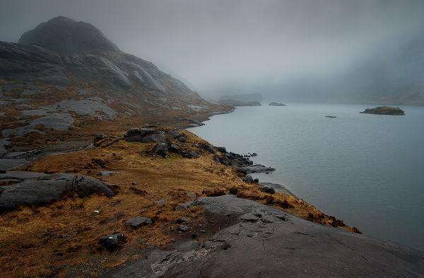 Misty View over Loch Coruisk, Black Cuillin Mountains, Isle of Skye, Scotland