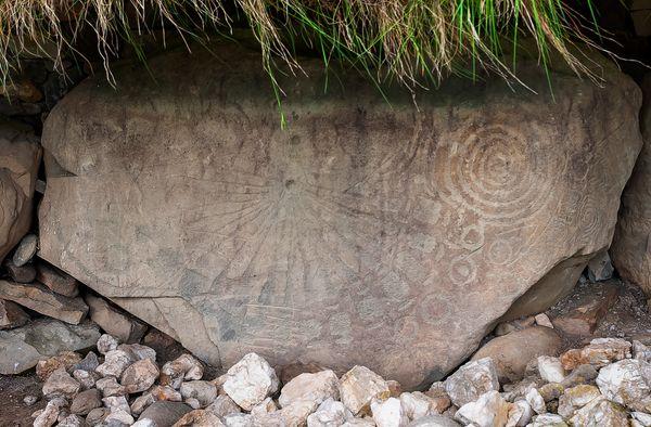 The Sundial Stone, Knowth Megalithic Passage Tomb, Brú na Bóinne, Ireland