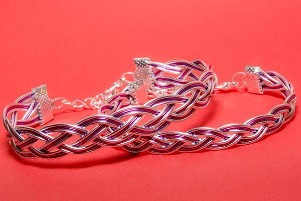 Wire braided bracelets