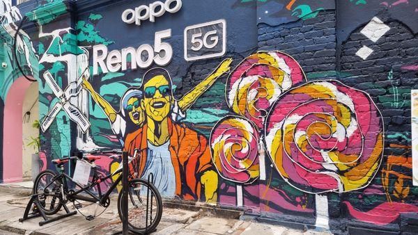 Beautiful wall graffiti