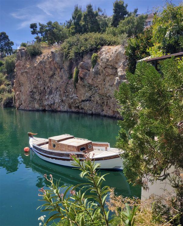 Lagoon in Agios Nikolaos , Crete