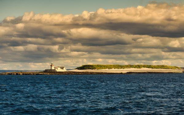 Lighthouse at Aran island in Ireland