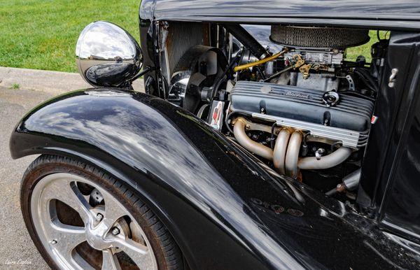 Engine View - Edelbrock - 1933 Chevrolet 2 Door Sedan