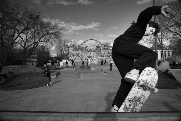 At the skate park