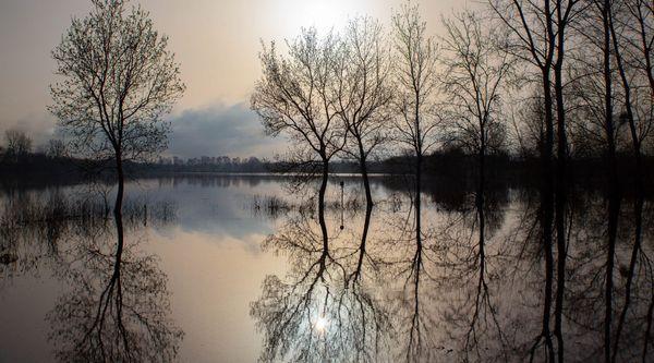 Floods before sunset