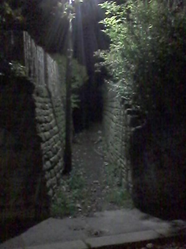 Ginnel - a passage between buildings, or an alley