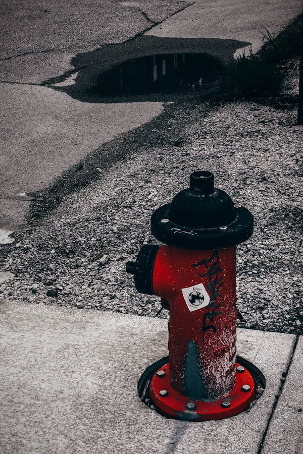 Hydrant W Bottoms KCMO Cloudy