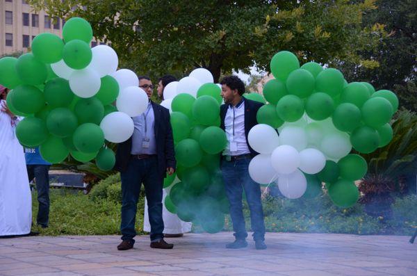Celebrating National Day of Saudi Arabia