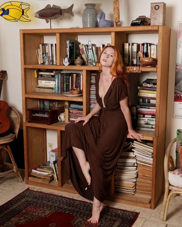 Astrid Kallsen in Dark Winered Dress, Treasure Coast, FL, 6-20-2021