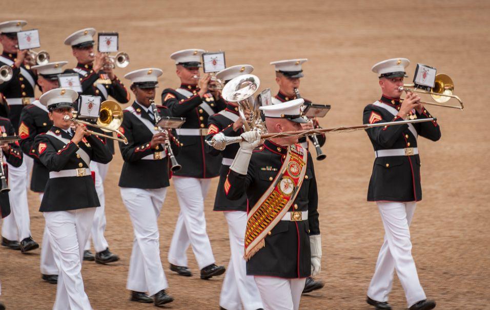 US Marines Drum Major